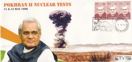 INDIA 2019  Atom  Pokharan II Nuclear Tests  1998  PM Atal Bihari Vajpayee  Special Cover  # 20647   D Inde  Indien - Atom