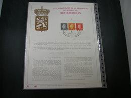 "BELG.1976 BL50 FDC Filatelic Gold Card FR. : "" ROI BAUDOUIN "" - 1971-80"