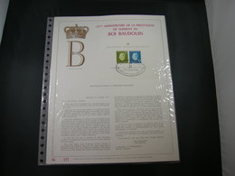 "BELG.1976 BL51 FDC Filatelic Gold Card FR. : "" ROI BAUDOUIN "" - 1971-80"