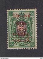LITUANIA  DEL  SUD:  1915  SOPRASTAMPATO  -  50 S./25 K. VERDE  CHIARO  E  SCURO  L. -  YV/TELL. 5 - Lituania