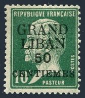 Lebanon 15,hinged.Michel 19. Grand Liban And New Value Surcharged,Pasteur,1924. - Lebanon