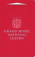 Switzerland: Grand Hotel National Luzern - Hotelkarten