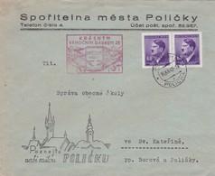 Böhmen Und Mähren - Brief Aus Policka  1942 - Bohemia & Moravia