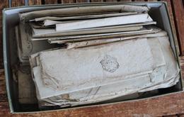 LOT DE VIEUX PAPIERS NOTAIRES COMMERCIAUX + DE 60 DE 1800 - Documentos Antiguos