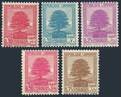 Lebanon 137-138A,MNH.Michel 204-208. Cedar Of Lebanon,1937,1940. - Lebanon
