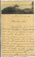 CHINE - Lettre Correspondance écrite De TIENTSIN Le 11/10/1936 - Belle Illustration En Début De Page - Historical Documents