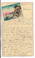 CHINE - Lettre Correspondance écrite De ARSENAL ( TIENTSIN )  Le 25/04/1938 - Belle Illustration En Début De Page - Historical Documents