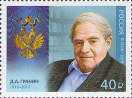 Russland Russia 2019 MNH ** Mi  2653 Daniil Granin. - Nuovi
