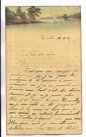 CHINE - Lettre Correspondance écrite De  TIENTSIN   Le 10/02/1936 - Belle Illustration En Début De Page - Historical Documents