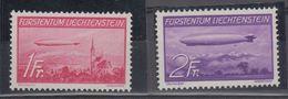 Liechtenstein 1936 Airmail / Zeppelin 2v ** Mnh (43653) - Luchtpostzegels