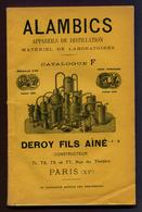 """CATALOGUE  : """" ALAMBICS  """" DEROY Fils Ainé """" - Wetenschap"""