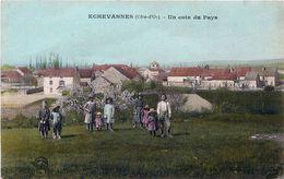 Cpa ECHEVANNES 21 Un Coin Du Pays - Enfants, Colorisée, Rare - Otros Municipios