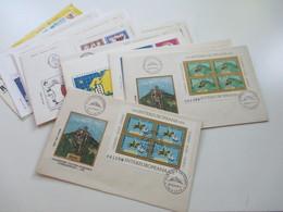 Rumänien 1976 - 85 FDC Mit Den Intereuropa Blocks Insgesamt 20 Belege + 4 Weitere FDC Z.B. Block 271 - Covers & Documents