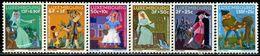 AL0680 Luxembourg 1966 Folk Myth Fairy Tale 6V MNH - Unused Stamps