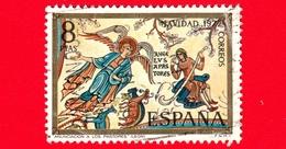 SPAGNA - Usato - 1972 - Natale - Christmas - Navidad - Noel  - L'Annunciazione - 8 - 1931-Oggi: 2. Rep. - ... Juan Carlos I