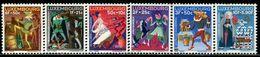 AL0681 Luxembourg 1965 Folk Myth Fairy Tale 6V MNH - Unused Stamps