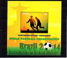 Soccer World Cup 2014 - CANOUAN - S/S MNH** - Coppa Del Mondo
