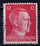 Allemagne III Reich - Germany - Deutschland 1941-43 Y&T N°710B - Michel N°827 (o) - 12p Hitler - Deutschland