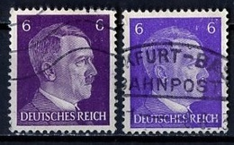 Allemagne III Reich - Germany - Deutschland 1941-43 Y&T N°709 - Michel N°785 (o) - 6p Hitler - Nuance De Couleur - Deutschland