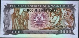 MOZAMBIQUE - 5.000 Meticais 03.02.1989 {República Popular De Moçambique} UNC P.133 B - Mozambique