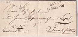 ALLEMAGNE  1835 LETTRE DE HANAU - Alemania