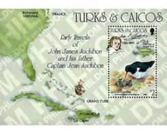 Ref. 31389 * MNH * - TURKS AND CAICOS Islands. 1985. BICENTENARY OF THE BIRTH OF ORNITHOLOGIST J.J. AUDUBON . BICENTENAR - Turks & Caicos (I. Turques Et Caïques)