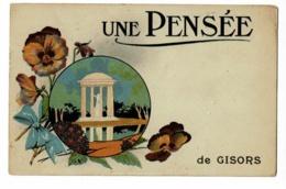 Carte Illustrée - Une Pensée De Gisors - Circulé 1933, Timbre Arraché - Gisors