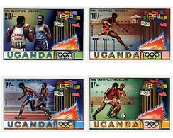 Ref. 40205 * MNH * - UGANDA. 1980. GAMES OF THE XXII OLYMPIAD. MOSCOW 1980 . 22 JUEGOS OLIMPICOS VERANO MOSCU 1980 - Estate 1980: Mosca