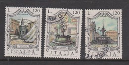 Italy Republic S 1473-1475 1979 Fountains  7th Issue,used - 6. 1946-.. Republic