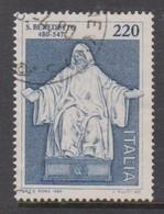Italy Republic S 1487 1980 St Benedict,used - 1971-80: Used