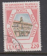 Italy Republic S 1488 1980 Europa 80 Stamp Expo,used - 6. 1946-.. Republic