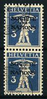 Suiza Nº Servicio-46A (pareja Vertical) USADO - Oficial