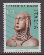 Italy Republic S 1491 1980 St Catherine,used - 6. 1946-.. Republic