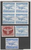 REICH 1942 - Franchigia Militare  Lotto Di 1 Quartina + 3 Singoli Nuovi** - Deutschland