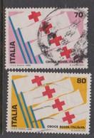 Italy Republic S 1492-1493 1980  Red Cross,used - 6. 1946-.. Republic