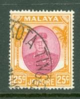 Malaya - Johore: 1949/55   Sultan Ibrahim    SG142    25c    Used - Johore