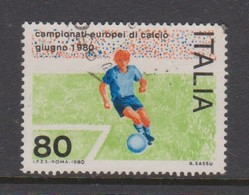 Italy Republic S 1496 1980 European Soccer Championship,used - 6. 1946-.. Republic