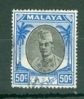 Malaya - Kelantan: 1951/55   Sultan Ibrahim    SG78    50c    Used - Kelantan