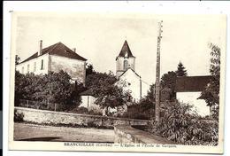 BRANCEILLES Corrèze - école Des Garçons, Le Bourg - L'église - France