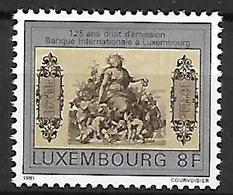 LUXEMBOURG     -   1981 .    Y&T N° 984 **.    Banque Internationale   /  Billet - Luxemburgo