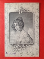 1906 - Illustrateur WICHERA - VIENNE Nr 229 - FEMME AVEC CHEVEUX BOUCLES - VROUW MET PIJPENKRULLEN - Wichera