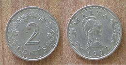 Malte 2 Cents 1972 Centimes Que Prix + Port Cent Paypal Bitcoin OK - Malta