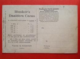 BLOOKER'S DAALDERS CACAO - FABRIEK TE AMSTERDAM - 1 KILO à Fr. 4,- - Advertising
