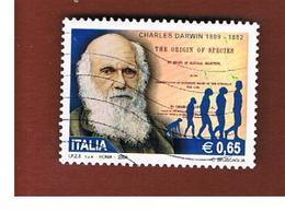 ITALIA REPUBBLICA  -  2009  C. DARWIN     - USATO ° - 6. 1946-.. Repubblica