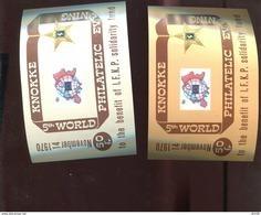 Belgie Erinno E117 E118 OCB 2€ RR Stamp On Stamp Penny Black - Commemorative Labels
