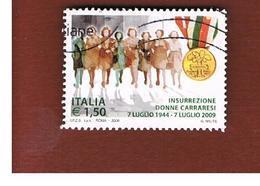 ITALIA REPUBBLICA  -   2009  DONNE CARRARESI       -   USATO  ° - 6. 1946-.. Repubblica