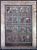 1999 Vaticano Vatican PORTA SANTA  HOLY DOOR Foglietto MNH** Souv.Sheet - Blocchi E Foglietti