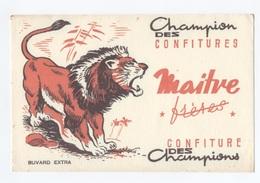 BUVARD-- Ancien BUVARD Illustré Confiture Des CHAMPIONS MAITRE FRÈRES --  Z900 - Levensmiddelen