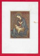 CARTOLINA VG ITALIA - GENTILE DA FABRIANO - La Madonna Che Contempla Il Divin Figlio - 10 X 15 - 1958 MAIANO - Pittura & Quadri