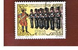 ITALIA REPUBBLICA  -   2009   GRANATIERI DI SARDEGNA   -   USATO  ° - 6. 1946-.. Repubblica